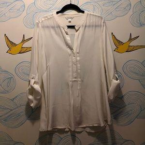 Garnet Hill White Silk Blouse